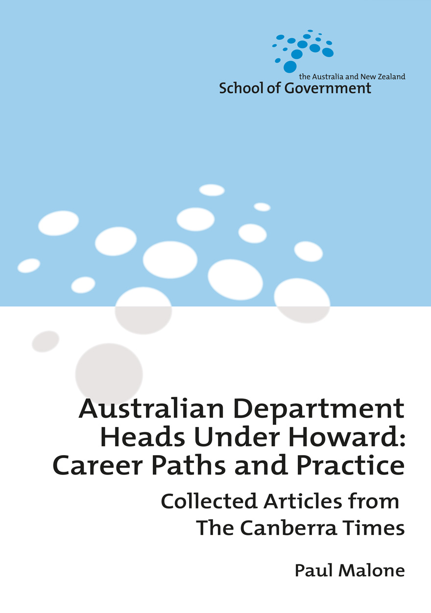 Australian Department Heads Under Howard: Career Paths and Practice