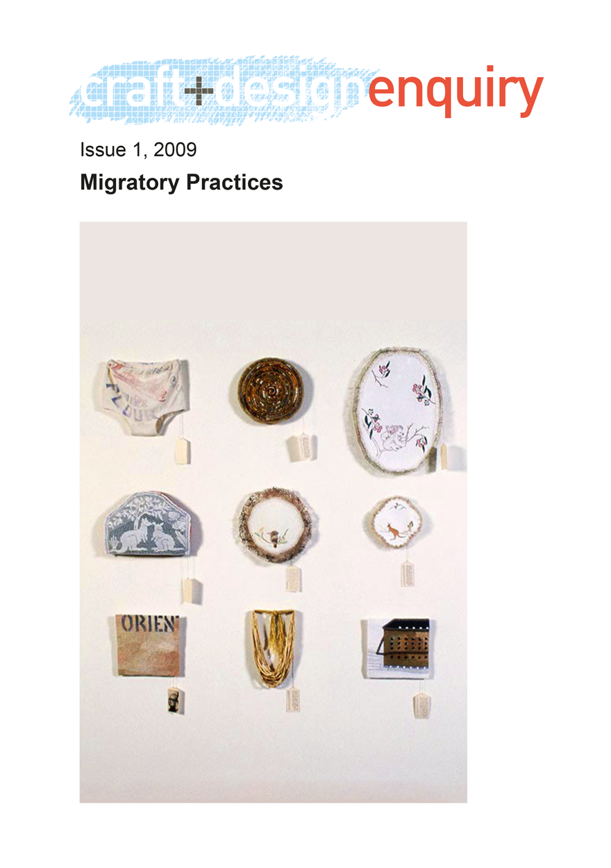 craft + design enquiry: issue 1, 2009