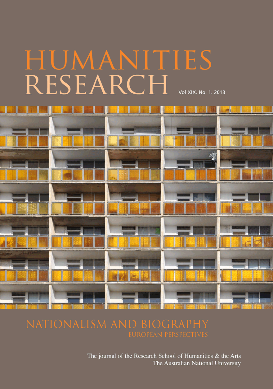 Humanities Research Journal Series: Volume XIX No. 1. 2013