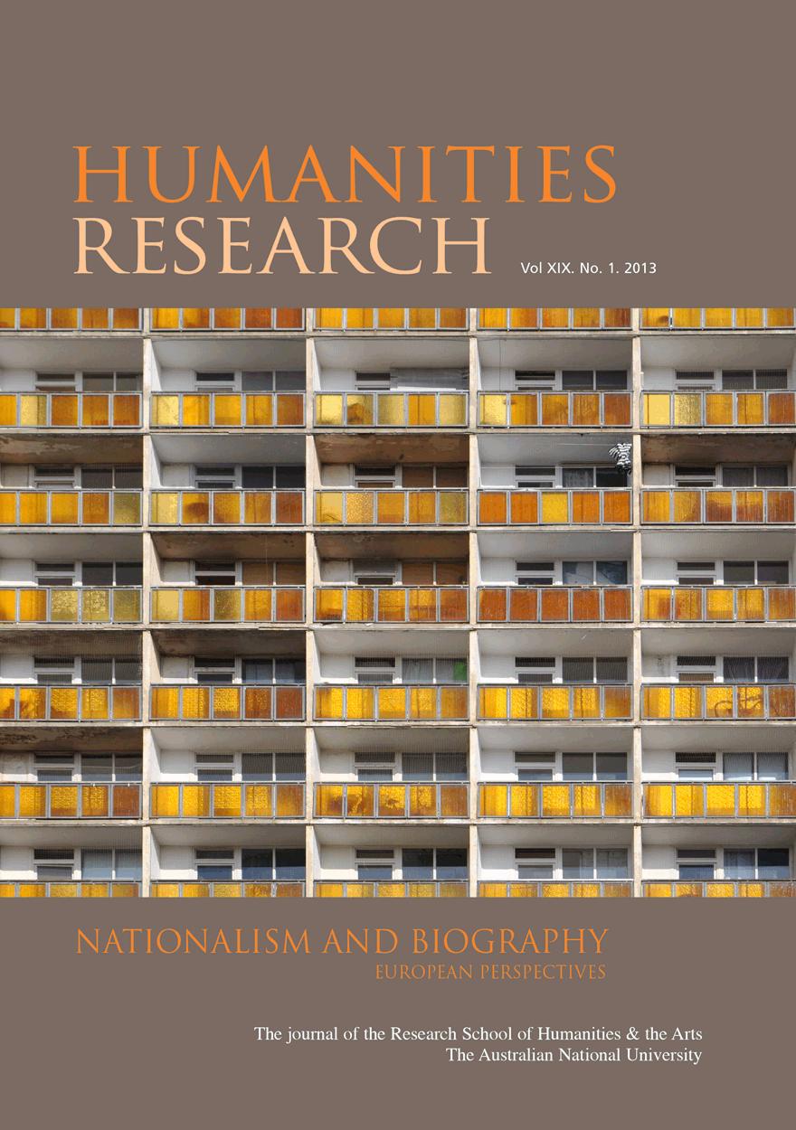 Humanities Research Journal Series: Volume XIX No. 1. 2013