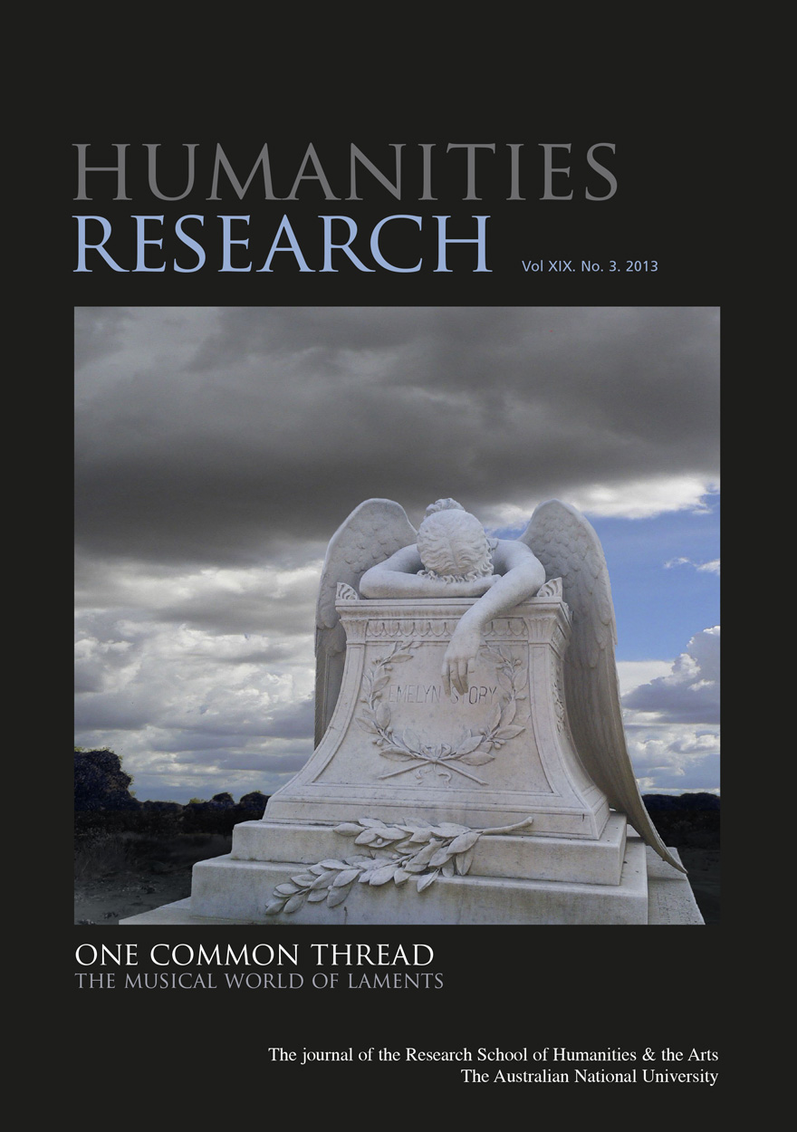 Humanities Research Journal Series: Volume XIX No. 3. 2013