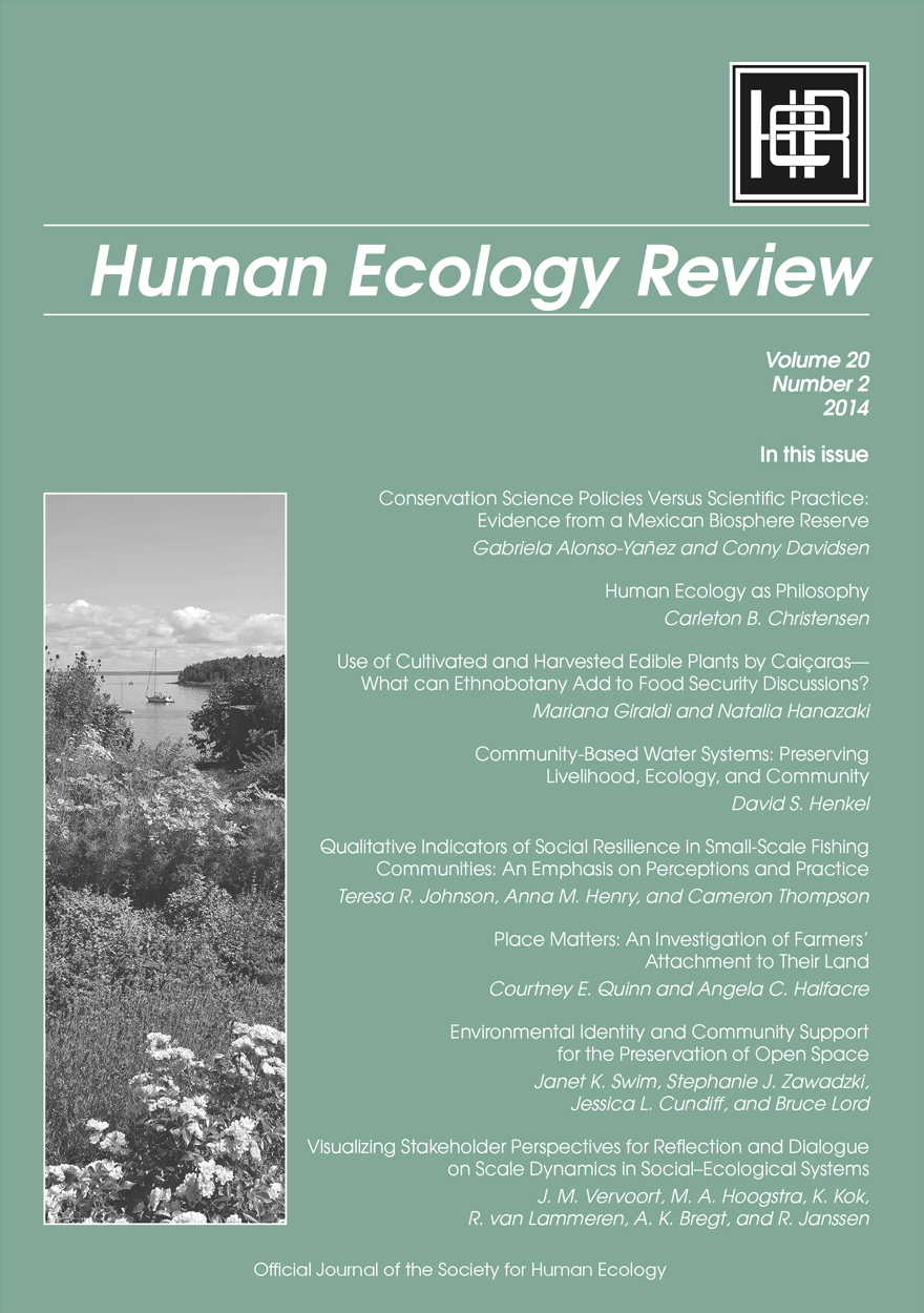 Human Ecology Review: Volume 20, Number 2