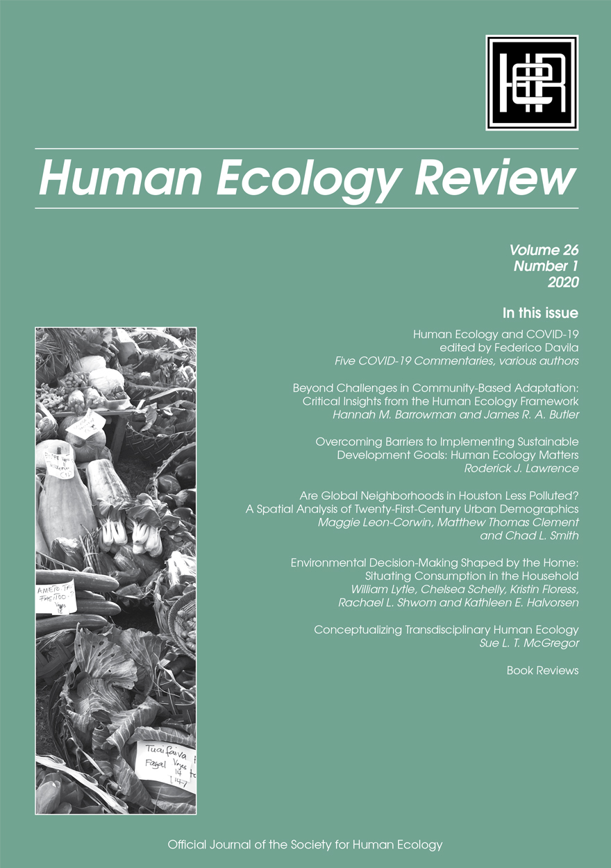 Human Ecology Review: Volume 26, Number 1