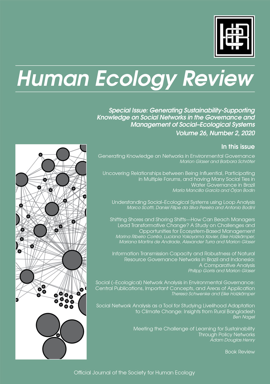 Human Ecology Review: Volume 26, Number 2