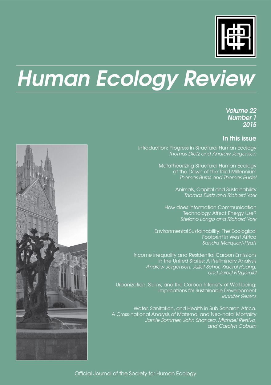Human Ecology Review: Volume 22, Number 1