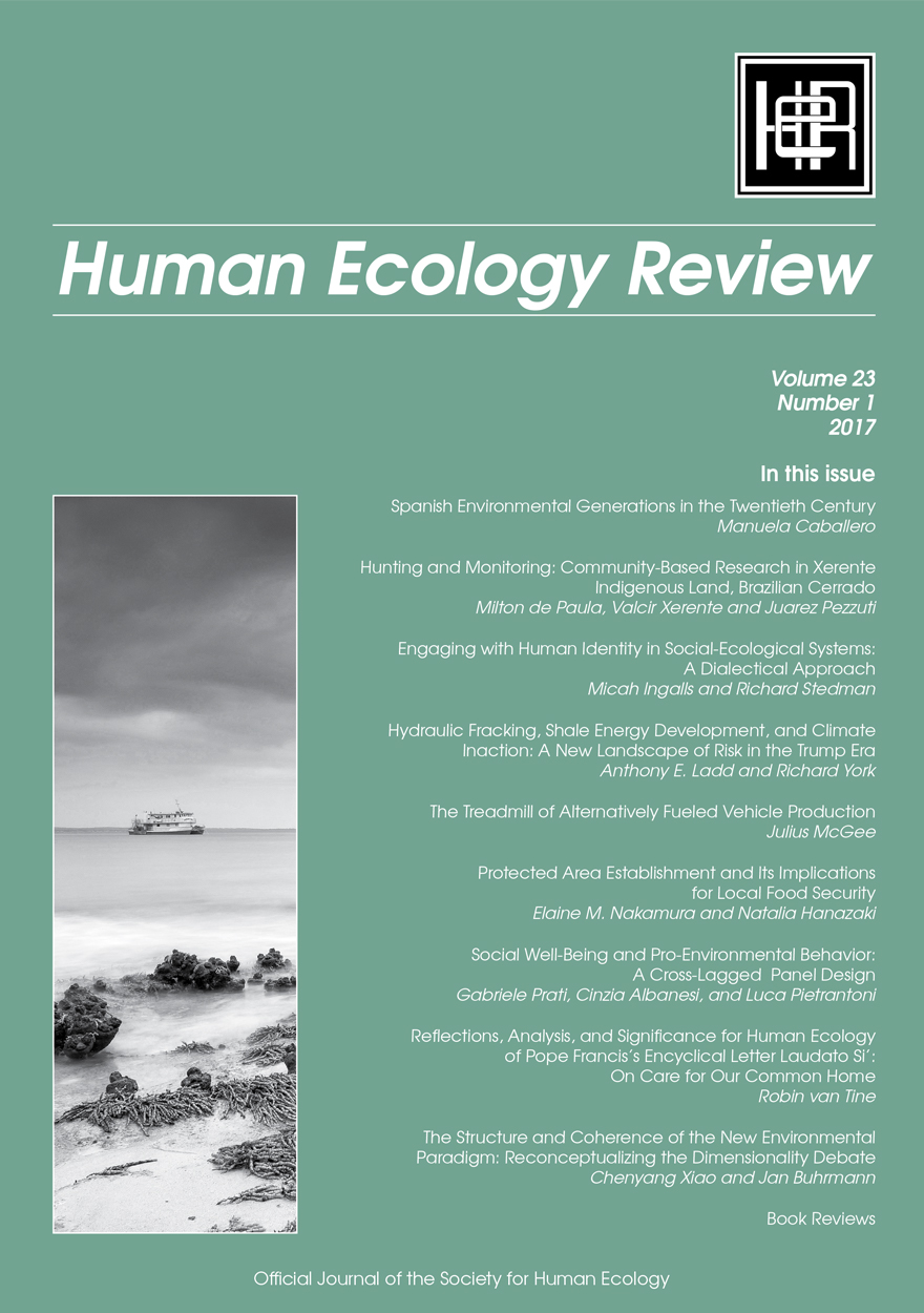Human Ecology Review: Volume 23, Number 1