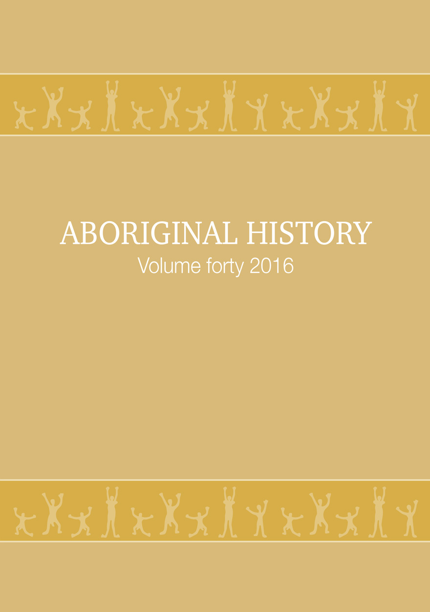 Aboriginal History Journal: Volume 40