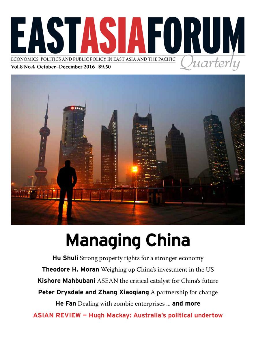 East Asia Forum Quarterly: Volume 8, Number 4, 2016