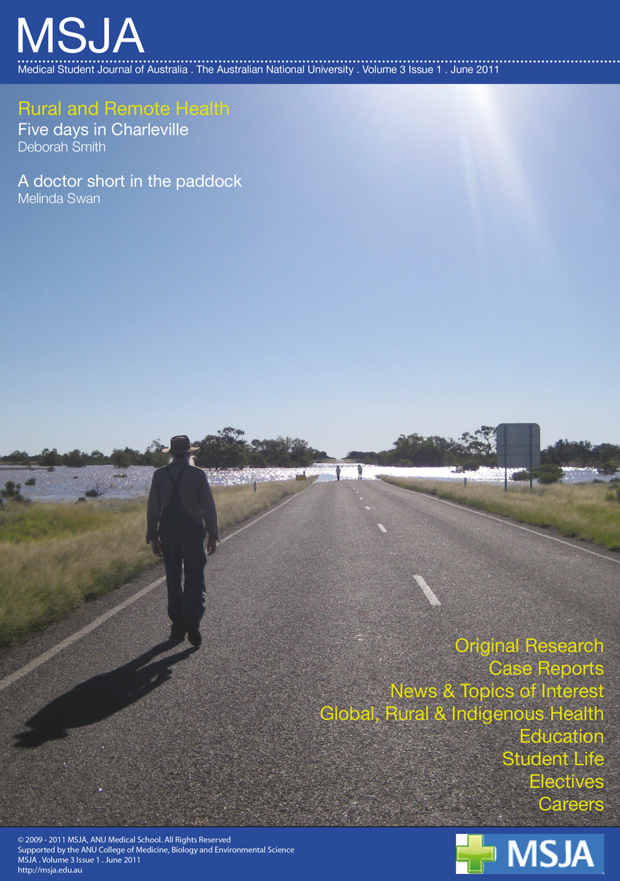 Medical Student Journal of Australia: Volume Three, Issue 1